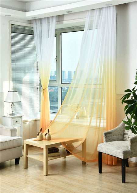 "100"" * 40"" Brise Curtain drape - White/Yellow (Exclusively Online)"