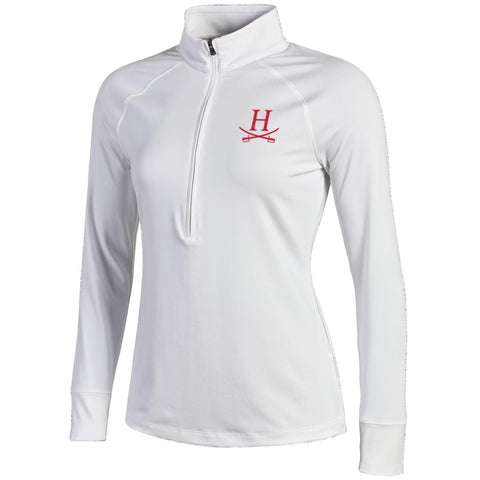 Under Armour Women's Heatgear Zinger Quarter Zip - White