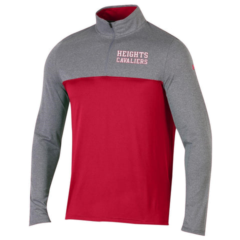 Under Armour Mock Quarter Zip - Gray/Red