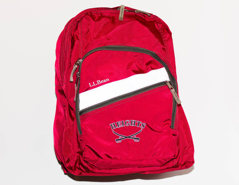 L.L. Bean Red Deluxe Book Pack