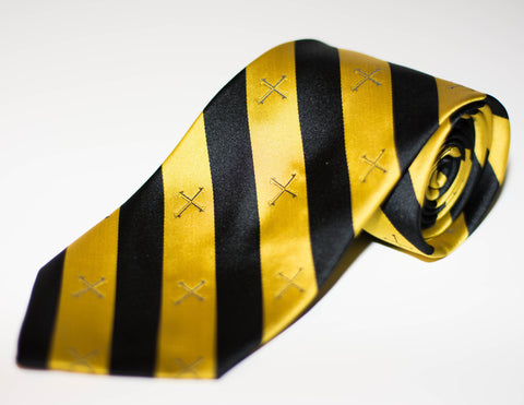 Gold Cross Neck Tie