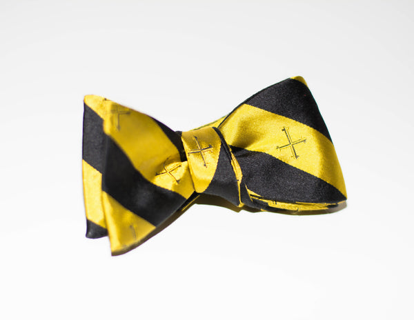 Gold Cross Bow Tie