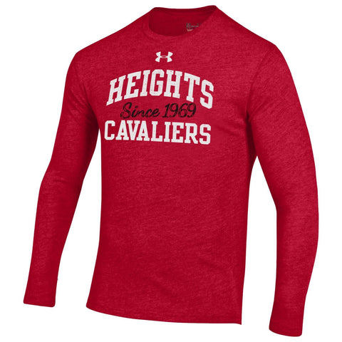 Under Armour Heatgear Triblend Long Sleeve Tee - Red