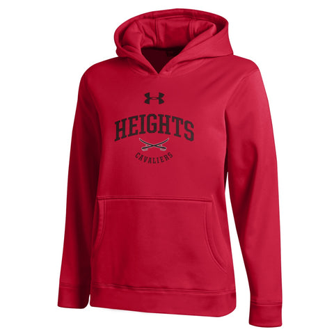Under Armour Youth Coldgear Hoodie - Red