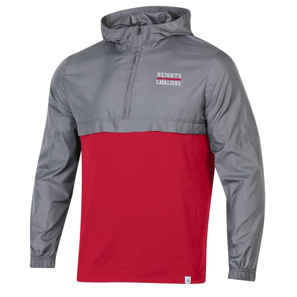 Under Armour Woven Layer Quarter Zip - Red/Gray