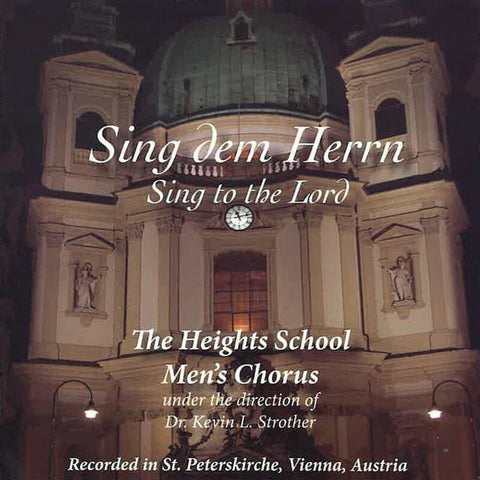 Men's Chorus CD - Sing to the Lord