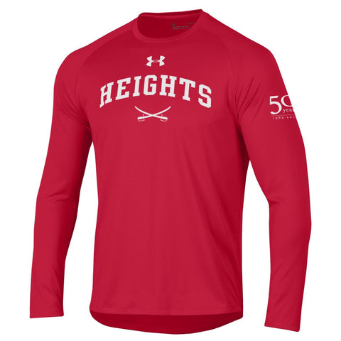 Under Armour Tech Long Sleeve Tee - 50th Anniversary - Red