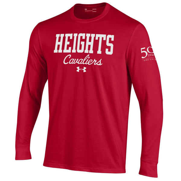 Under Armour Performance Cotton Long Sleeve Tee 50th Anniversary - Red