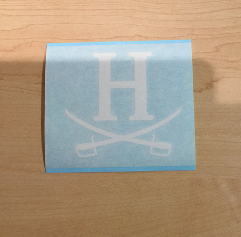 Decal - H and Crossed Swords