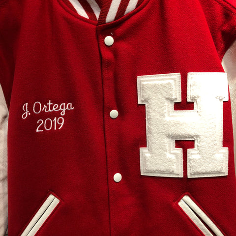 The Varsity Jacket Embroidery