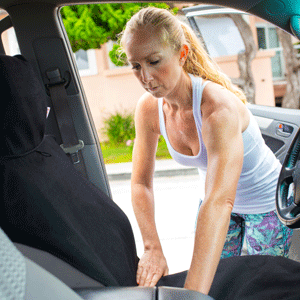 The Dryasana Car Seat Cover is easy to install