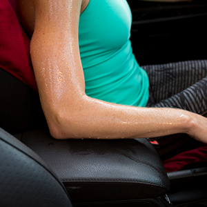 The Dryasana Car Seat Cover protects your fabric from sweat and dirt