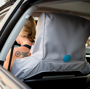 The Dryasana Car Seat Cover provides complete coverage