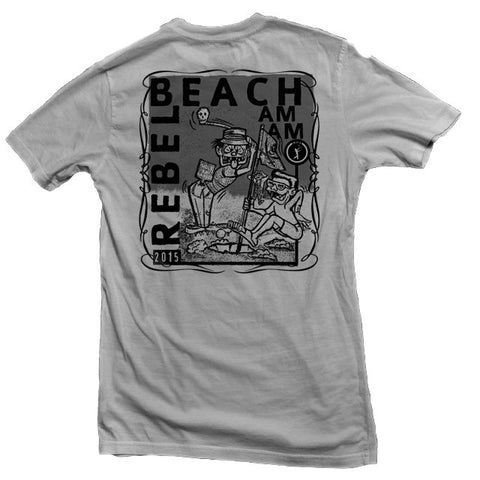 Rebel Beach Am Am Tee back