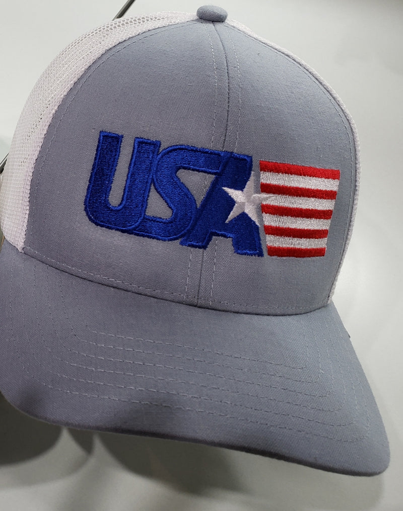USA  cap in blue color with flag