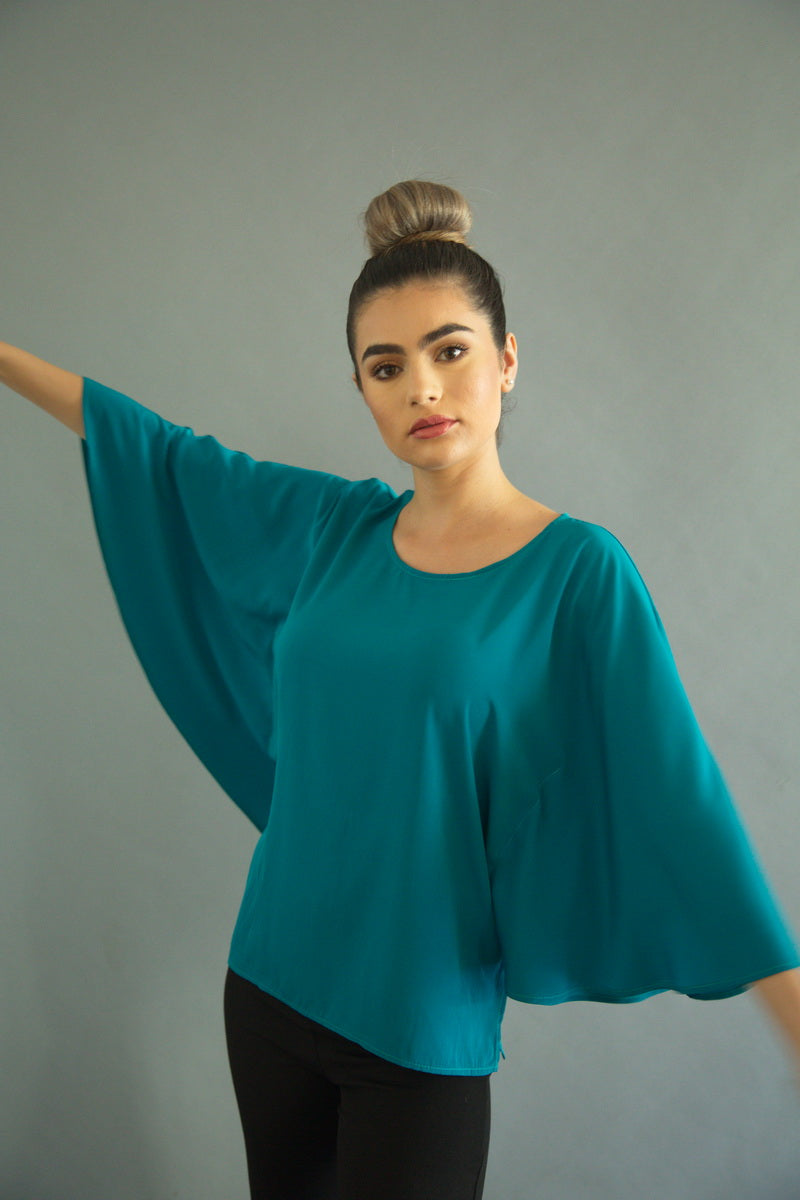 EMERALD BUTTERFLY BLOUSE