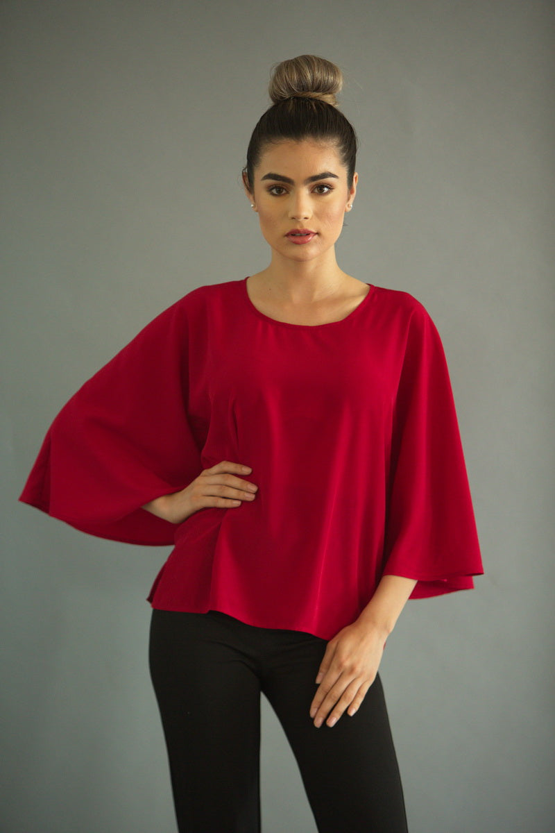 RUBY BUTTERFLY BLOUSE