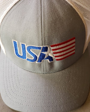 USA with flag cap