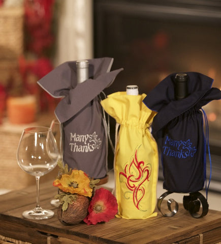 This wine bag thank you gift set will show how much you thank your friends and family.  The three bags can be given to one or split among your friends.