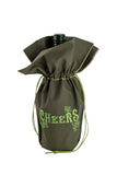 A Happy New Year's Eve olive wine gift bag from Zelenco.