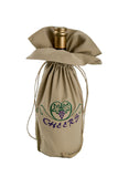 This unique beige wine gift bag from Zelenco can be used to express good wishes and love for people on your life that love wine.
