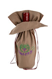 This unique brown wine gift bag from Zelenco can be used to express good wishes and love for people on your life that love wine.