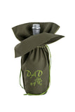Present an unique dark green wine gift bag from Zelenco to your father or grandfather to tell them how special they are to you.