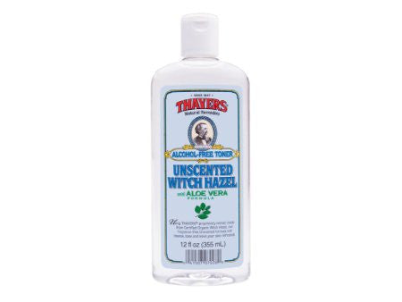 Thayers Alcohol-free Unscented Witch hazel with Aloe Vera Toner - 12 oz