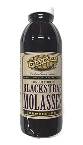 Golden Barrel Unsulphured Blackstrap Molasses - 16 fl oz