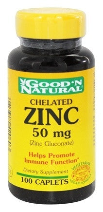Good 'n' Natural Chellated Zinc - 50mg, 100 caplets