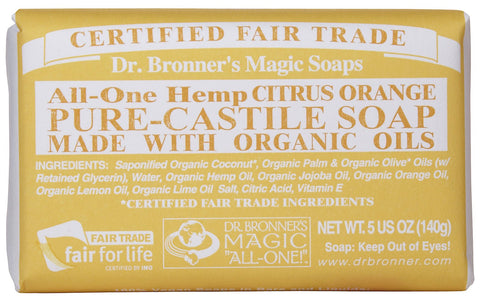 Dr. Bronners Citrus Orange Pure Castille Bar Soap - 5 oz