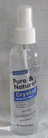 Pure & Natural Crystal Deodorant Mist - 6 oz