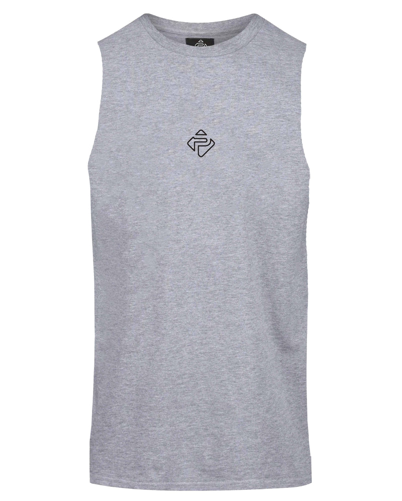 Essential Cut-Off Tank (Heather Grey)