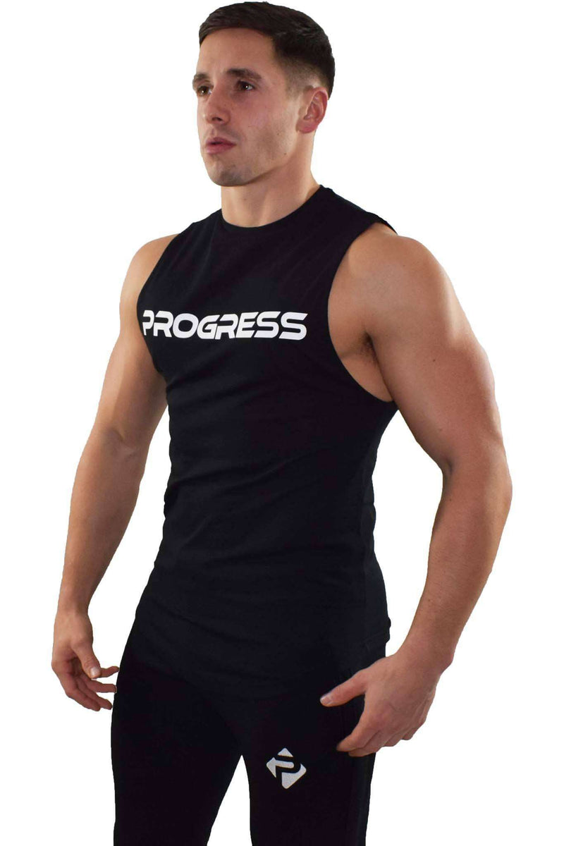 Progress Statement Cut-Off Tank (Black)