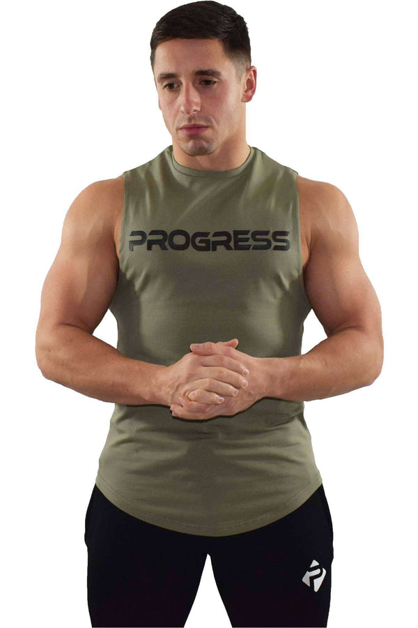 Progress Statement Cut-Off Tank (Khaki)