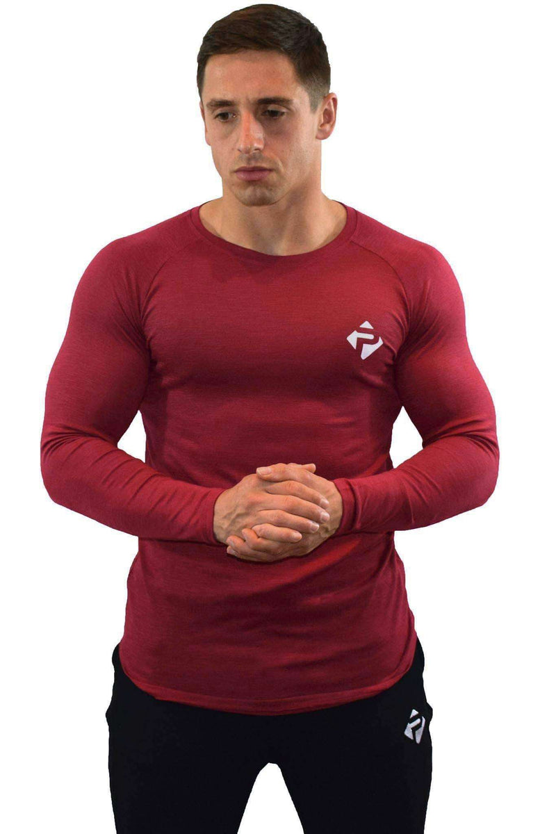 Progress Icon Long Sleeve (Red Slub)