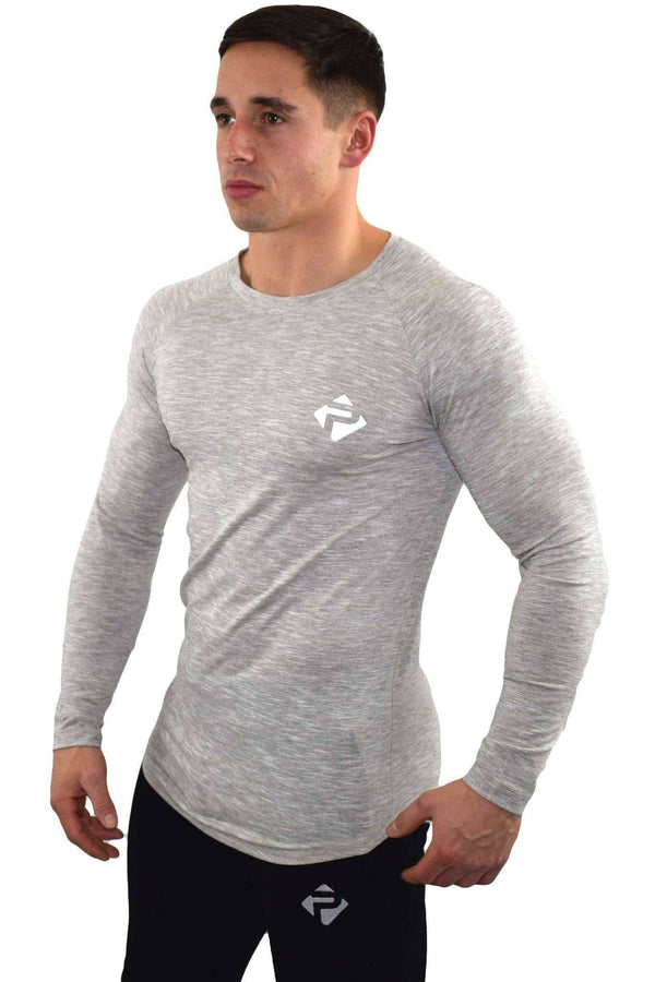 Long Sleeves - Progress Icon Long Sleeve (Grey Slub)