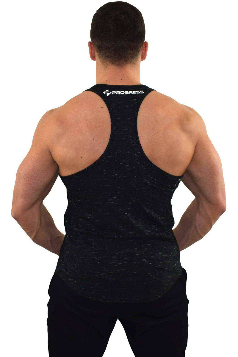 Stringer Vests - Progress Icon Stringer (Black Slub)