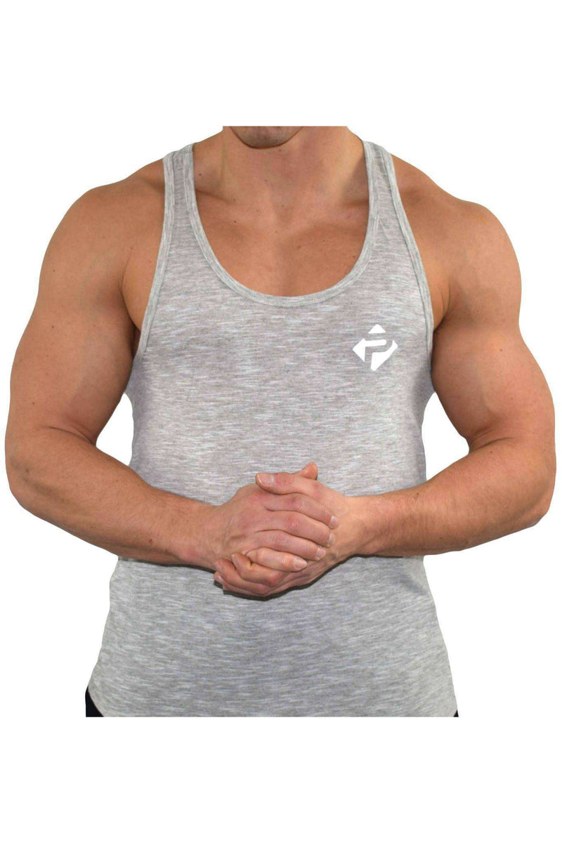 Stringer Vests - Progress Icon Stringer (Grey Slub)