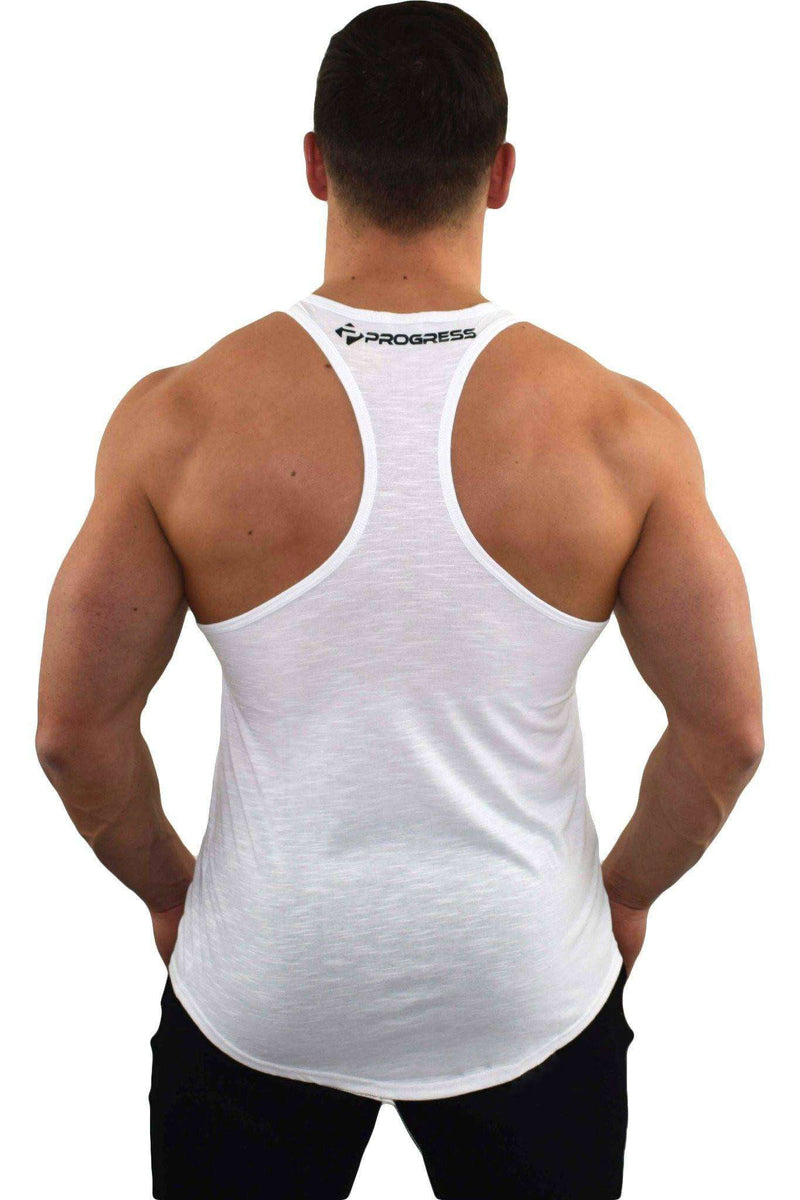 Stringer Vests - Progress Icon Stringer (White Slub)