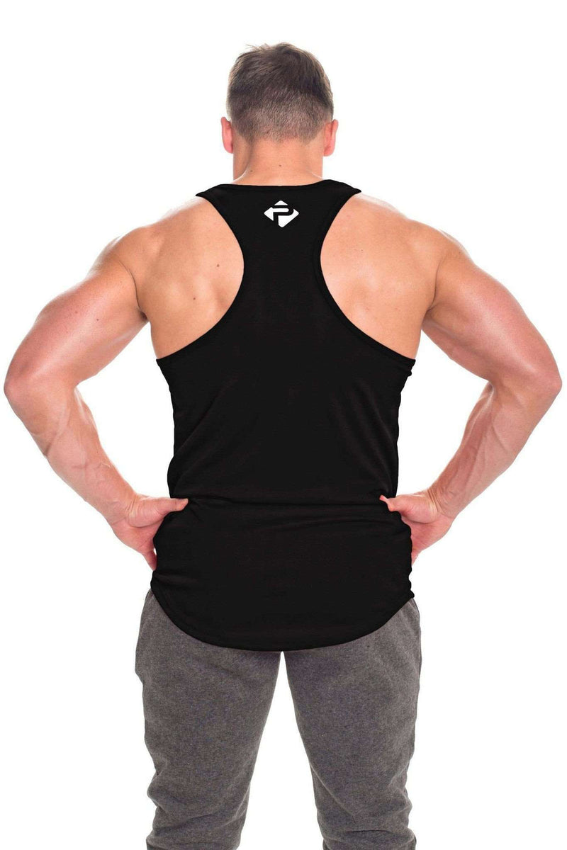 Stringer Vests - Progress Performance Stringer - Large Logo (Black)