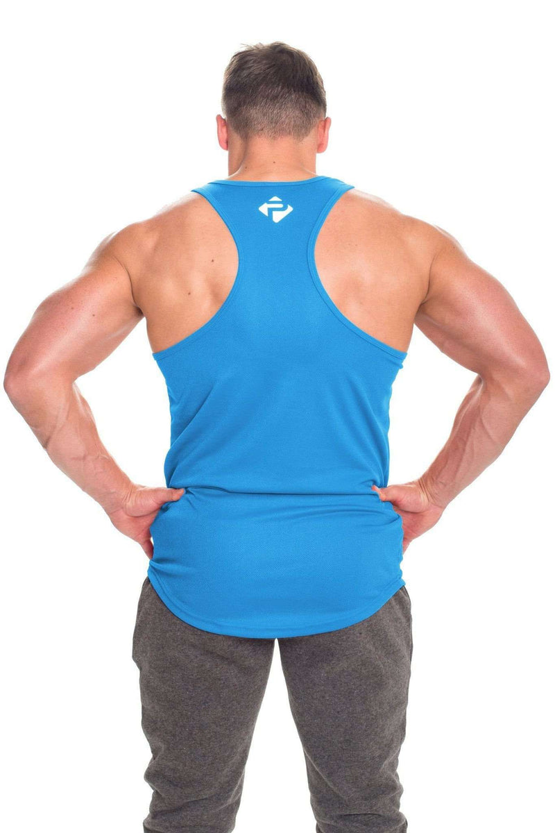 Stringer Vests - Progress Performance Stringer - Large Logo (Blue)