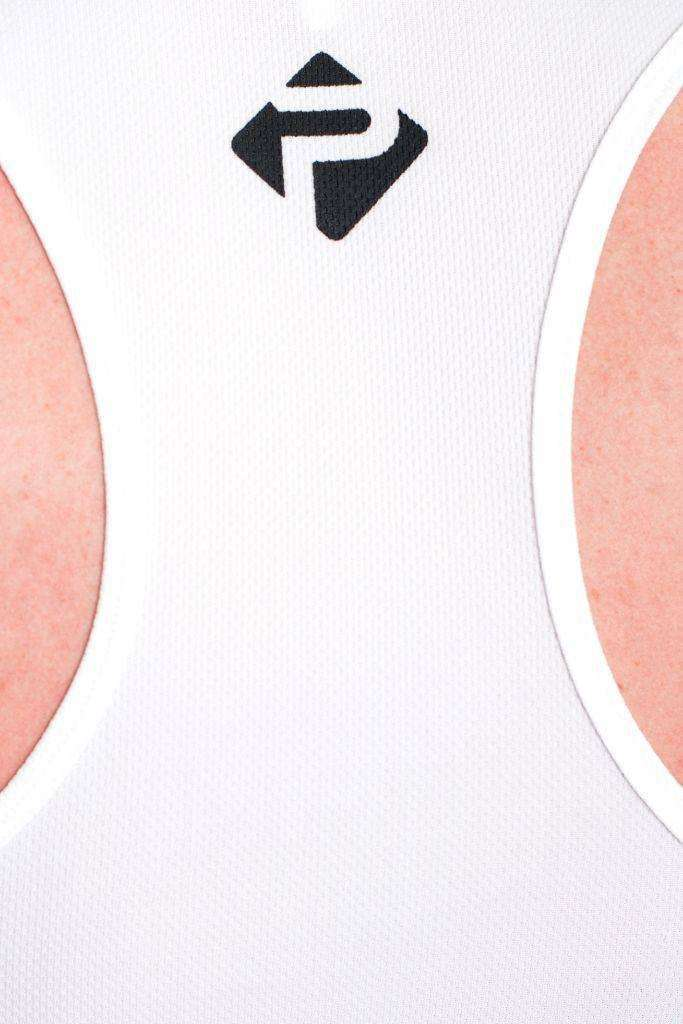 Stringer Vests - Progress Performance Stringer - Large Logo (White)