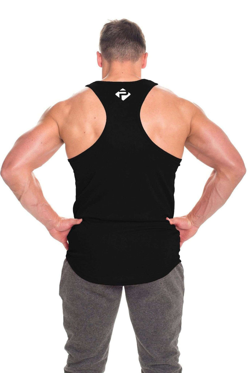 Stringer Vests - Progress Performance Stringer - Small Logo (Black)