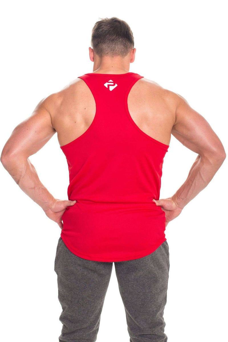 Stringer Vests - Progress Performance Stringer - Small Logo (Red)