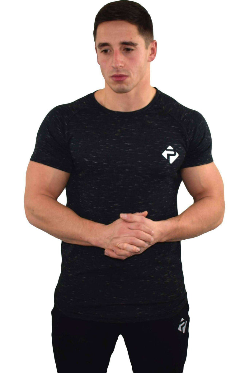 T-Shirts - Progress Icon T-Shirt (Black Slub)