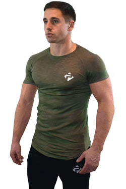 Progress Icon T-Shirt (Khaki Slub)