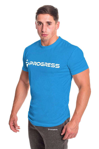 T-Shirts - Progress Performance T-Shirt - Large Logo (Blue)