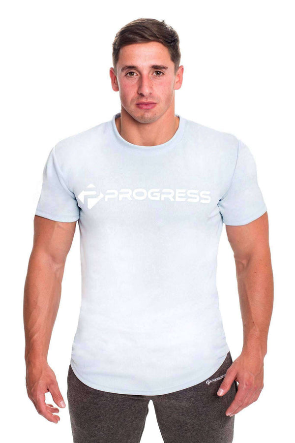 T-Shirts - Progress Performance T-Shirt - Large Logo (Cool Grey)