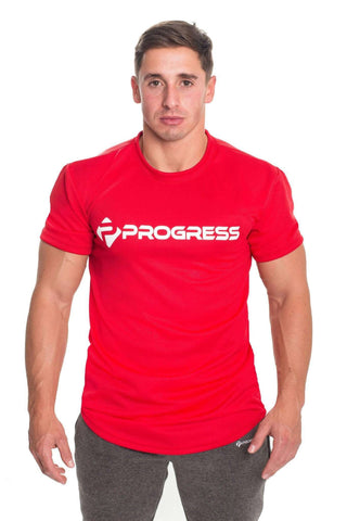 T-Shirts - Progress Performance T-Shirt - Large Logo (Red)